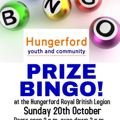 Prize Bingo poster 20th October at the British Legion Hungerford